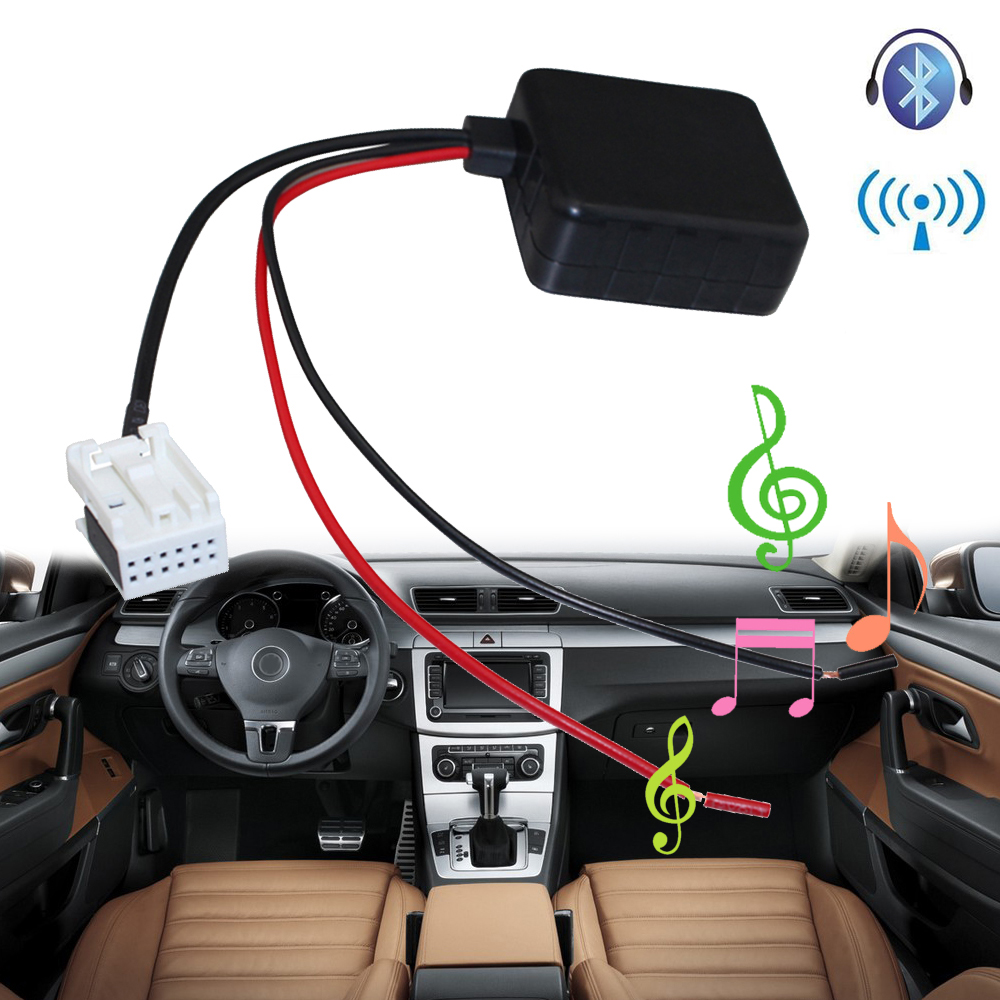 lonleap car bluetooth module for bmw e60 radio stereo aux cable adapter with filter wireless. Black Bedroom Furniture Sets. Home Design Ideas