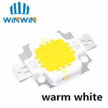 100pcs 10W LED chip Integrated High power 10w LED Beads 10W Warm White Led chip 800 900lm 10W led Chips