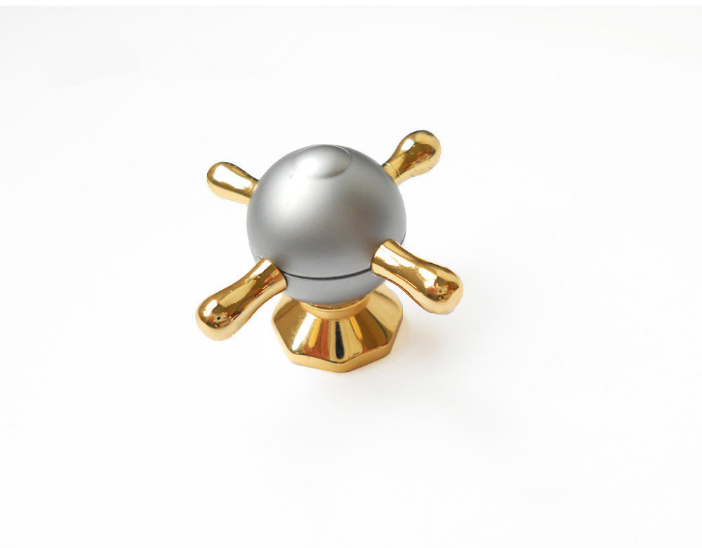 Modern Concise Design Style Gold and Grey Zinc Alloy Cabinet Knob Drawers Pulls/Shoe Cupboard Door Handle