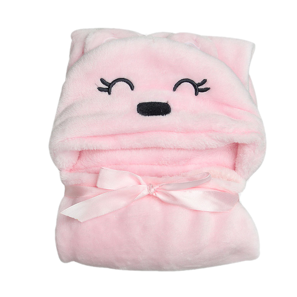 Soft Baby Bath Towel Flannel Cartoon Kids Hooded Bath Towels Lovely Animal Baby Super Soft Hooded Towels For Kids Birthday Gift fashionable color block bus pattern soft cotton hooded towels