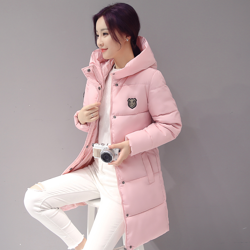 Women Winter Jacket New Arrival Casual Warm Long Sleeve Ladies Basic Coat Jaqueta Feminina Jacket   Parkas   Wadded Cotton MZ1859