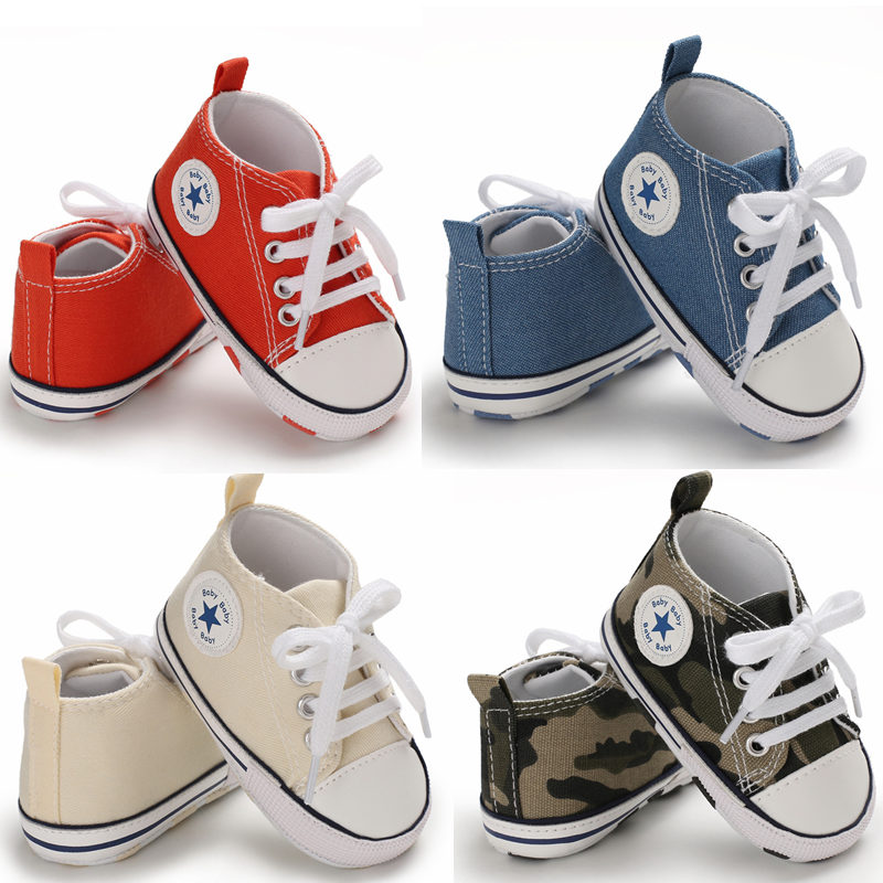 Baby Shoes Sports-Sneakers Canvas Anti-Slip Newborn Infant Toddler Girls Boys Classic