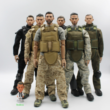 1/6 Scale(12inch & 30cm) SWAT Soldier Ronaldo Rooney Neymar figure toys Activity dolls With Accessories (Freedom of choice)