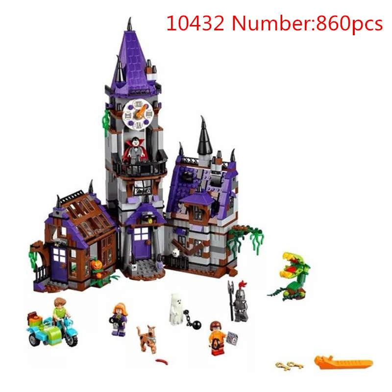 scooby doo Mystery Mansion Building Blocks scoobydoo shaggy Velma vampire  Kids Toy Gifts Compatible with