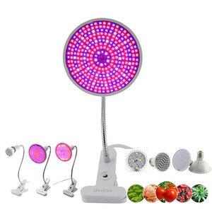 Image 1 - 36 200 290 LED bitki büyümek ampul tam spektrum fito phyto büyüyen lamba klip kapalı oda çadırı çiçek sebze sera