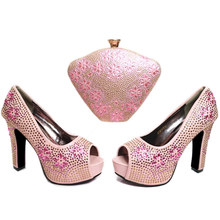 868ad1306c29 Pink Color African Women Matching Italian Shoe and Bag Set Hot Sales In  Africa Matching Shoes