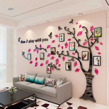 2019 Mirror Actylic Wall Sticker Photo Wall Creative Family 3D DIY Wall Stickers 1pc Tree Shape House Stickers adesivo de parede high quality removeable lip shape diy 3d mirror wall sticker