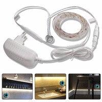 1 м/2 м/3 м/4 м/5 м светодиодный светильник под шкафом регулируемая светодиодная лента кухня/гардероб свет 12 В сенсорный датчик переключатель о...