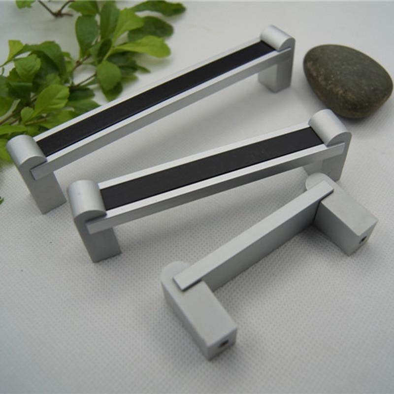 MEGAIRON Modern Simple Door Pull Handle Kitchen Drawer Cupboard Wardrobe Door Aluminium Alloy With Screws