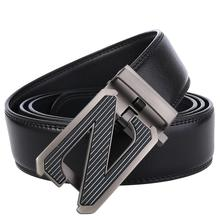Famous Belts for Men 2019 Cowhide Genuine Leather Automatic Buckle Belts Black Business Formal Belt Designer Male Strap hot sale business male black belts famous brand popular leather belt newest automatic buckle designer men black belt 2019