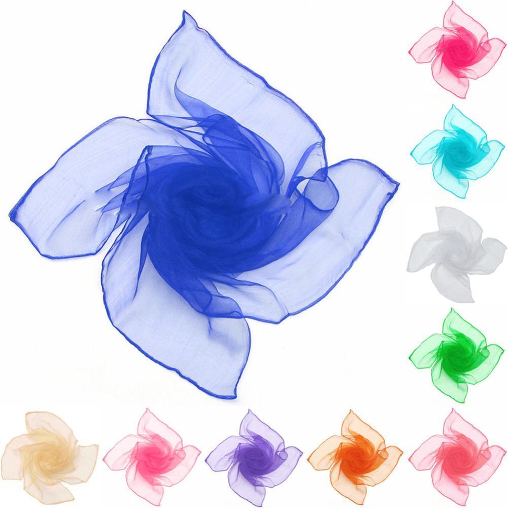 Women Stylish Pure Candy Color Soft Chiffon Silk Neck   Scarf   Square   Wrap   Shawl