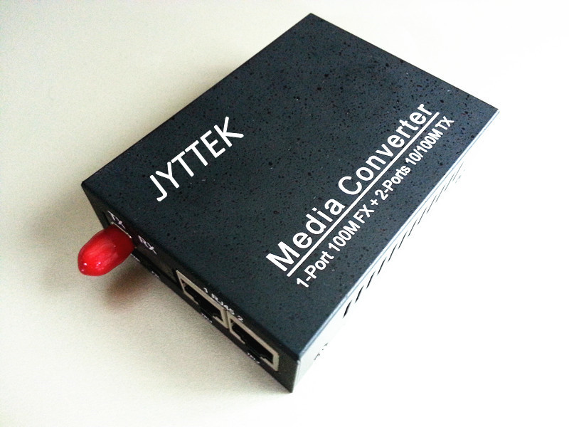 10/100M media converter Switch,42RJ45+1Fiber with single mode single fiber 20km 1310/1550nm FC