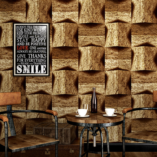 vintage brick stone walls wallpaper nostalgia 3d pvc wallpapers living room cafe ktv decor wallpaper vinyl wall paper rolls - The Living Room Cafe