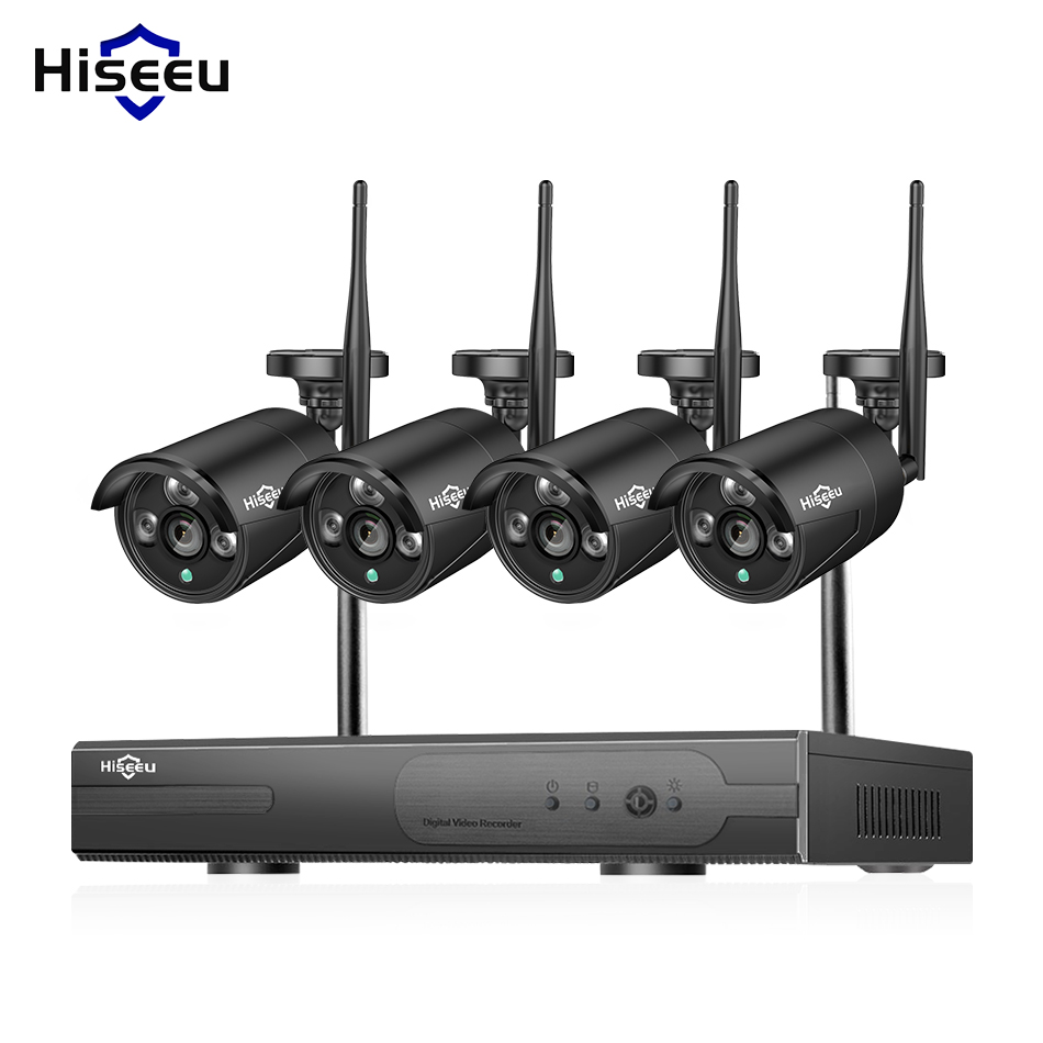 Hiseeu 4CH Wireless Security camera System 960P IP Camera waterproof outdoor Home CCTV Camera System video Surveillance Kits