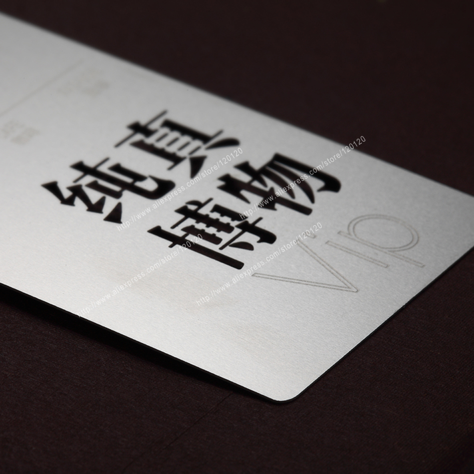 Personalizing Earth Cutout Quality Stainless Steel Business Metal Card