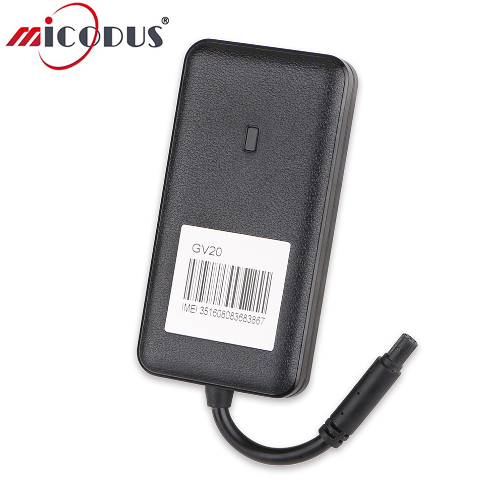 3G Car GPS Tracker GV20 WCDMA Vehicle Realtime Tracking Device Waterproof Remote Cut Off Fuel Power 9-36V Voltage Google Map
