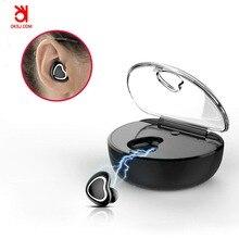 TWS-7 OKSJ Mini Fone de Ouvido Bluetooth Fone De Ouvido Sem Fio Esportes Earbud Fone de Ouvido Bluetooth no ouvido com Fones de Ouvido Microfone de Carregamento da Caixa