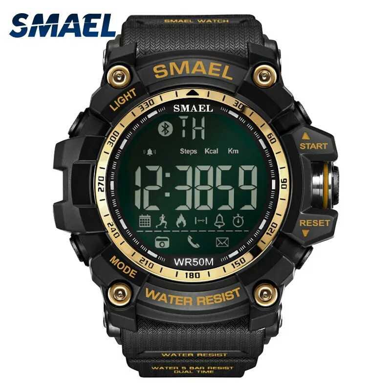 Samel bluetooth スマート腕時計メンズ防水 50 メートル大顔コールリマインカメラ屋外スポーツデジタル腕時計 1617B