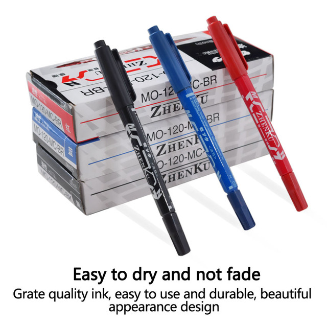 Tattoo Marker Pen Permanent Makeup Eyebrow Microblading Thin Scribe Tool Black/Red/Blue Optional Piercing Marker Position Supply 2