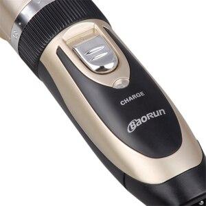 Image 5 - 110 240V מקצועי שיער גוזם לגברים בארבר חשמלי חותך מכסחת מכונת גילוח נטענת שיער קליפר שיער מכונת חיתוך האיחוד האירופי