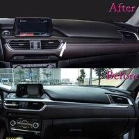 For Mazda 6 Atenza 2017 Carbon Fiber Color Car Console Center Dashboard Cover Trim Car Interior Moulding Sticker