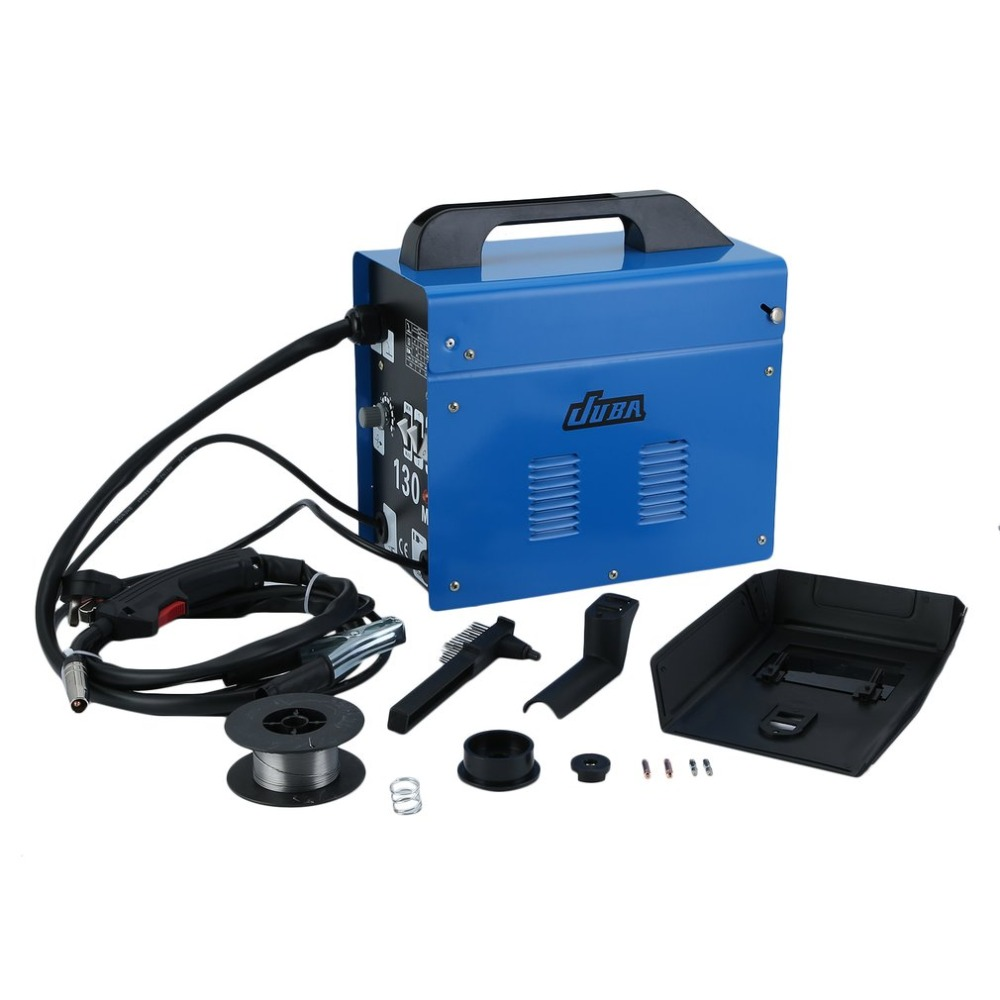 Buy Blue Mig 130 Portable Welding Machine No Gas Flux Core Wire 240v Wiring A Welder Plug Stable Efficient
