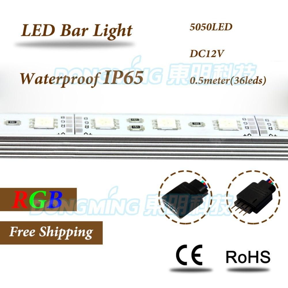 IP65 impermeable Barra de luz LED SMD 5050 RGB 50 cm 36 LEDs 12 V con  perfil de aluminio u LED duro luces luz escaparate de la joyería 962263bd019