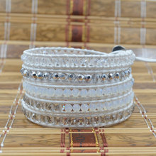 New Fashion Charm Bohemia Multilayer Wrap Bracelet Crystal Beaded For Women Jewelry Gifts Wholesale