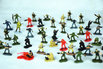 1:86 Die Casting Sand Table Soldier Model Miniature Scene Character Model World War Ii Modern Soldier Model  All For Layout