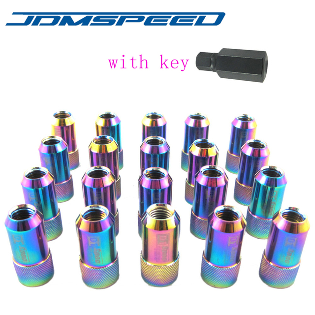 Xpower-20 PCS/set D1 LIGHT WEIGHT WHEEL RACING LUG NUTS With Key NEO CHROME FOR HONDA
