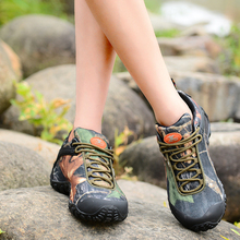 Brand XIANGGUAN Camo Hiking Shoes Man Sneakers Women Climbing Shoes Athletic Waterproof Oxford Breathable Travelling Anti-skid