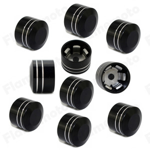 Image 5 - 10pcs Motorcycle Schrauben Motor Bolt Topper Cover Cap CNC Inner 9mm 12mm For Harley Twin Cam Touring Dyna Softail Black
