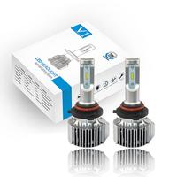 VEHEMO Universal Car Styling 72W LED Light Front Lamp Headlight Premium Super Bright White Replacement Car