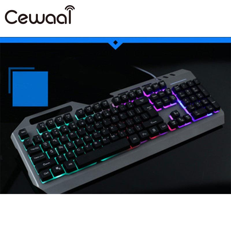 Проводная механической клавиатуры 104 клавиши Настоящее RGB синий переключатель светодиодный подсветкой anti-ореолы для профессионального Gamer ...