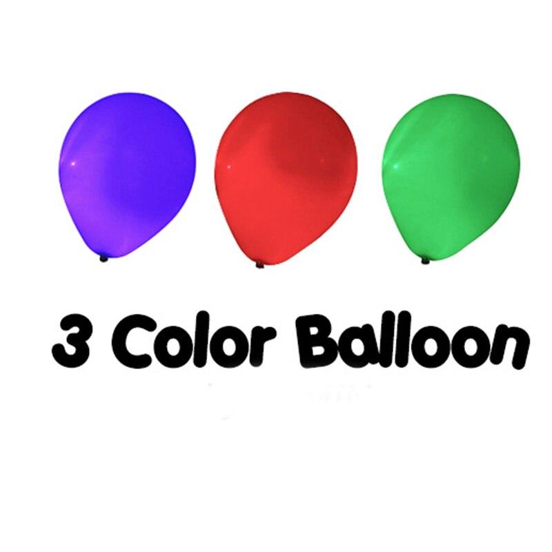 3 couleur ballon télécommande tours de magie changement de couleur ballon Magia magicien scène Illusions Gimmick accessoires mentalisme amusant