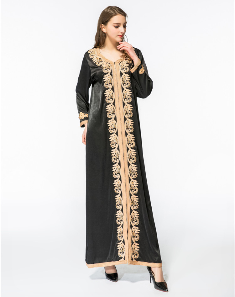 Women maxi long sleeve  long vintage dress