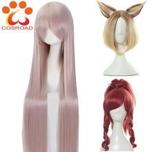 Cosplay lol prestige edition kda ahri akali kaisa evelynn cosplay perucas de fantasia peruca feminina