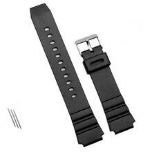 a0b72992492 1 pcs Watchband Silicone Rubber Band Mergulho Esportes Homens Cinta Preta  Para CASIO Substituir Eletrônico relógio de Pulso Reló.