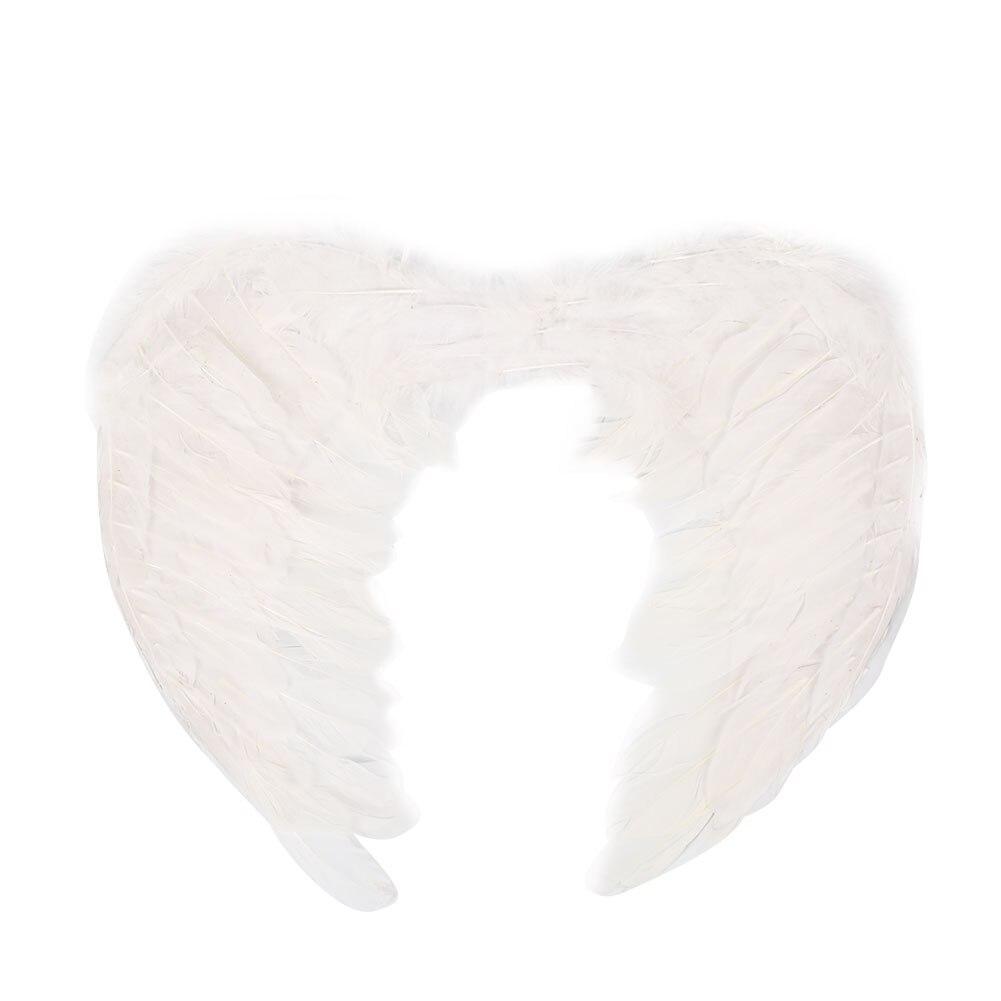 Крылья ангела Рождественские крылья феи для взрослых, крылья феи, подарок для взрослых, нарядный декор, крылья ангела, необычные рождественские вечерние украшения для Хэллоуина - Цвет: white