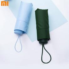 Xiaomi umbracella marca fibra ultraleve chuvoso ensolarado guarda chuva fortemente à prova de vento guarda chuva portátil ultra pequeno