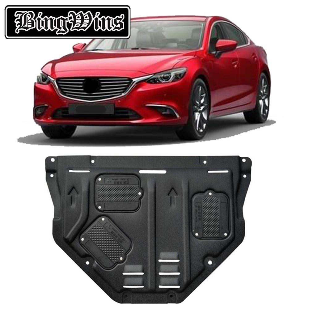BINGWINS Car styling For <font><b>Mazda</b></font> 6 Atenza plastic steel <font><b>engine</b></font> guard For <font><b>Mazda</b></font> Atenza 2014-2018 <font><b>Engine</b></font> skid plate fender 1pc image
