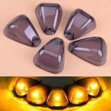CITALL 5pcs Cab Roof Running Top Smoke Marker Light Lamp Covers Lens 264142BK Fit For Ford F250 F350 F450 F550 F650 oil cooler kit for ford 6 4l powerstroke diesel engine f250 f350 f450 8c3z6a642a