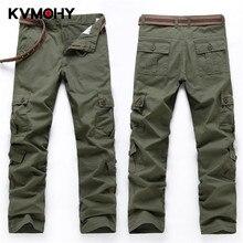 Уличная одежда, мужские брюки-карго, повседневные брюки для бега, мужские военные тактические брюки, несколько карманов, одноцветные мужские брюки размера плюс