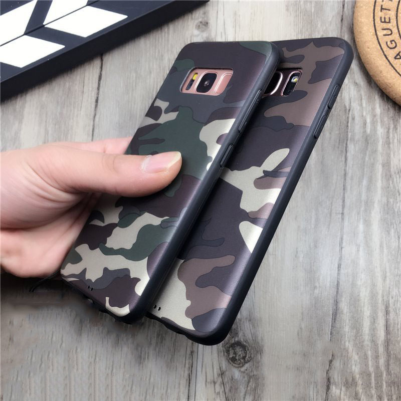 ArmyGreen Camouflage Phone Case For Samsung Galaxy S8 Plus Armor Soft TPU Cases Full Protect Cover for iphone 7 6 6s plus 8plus