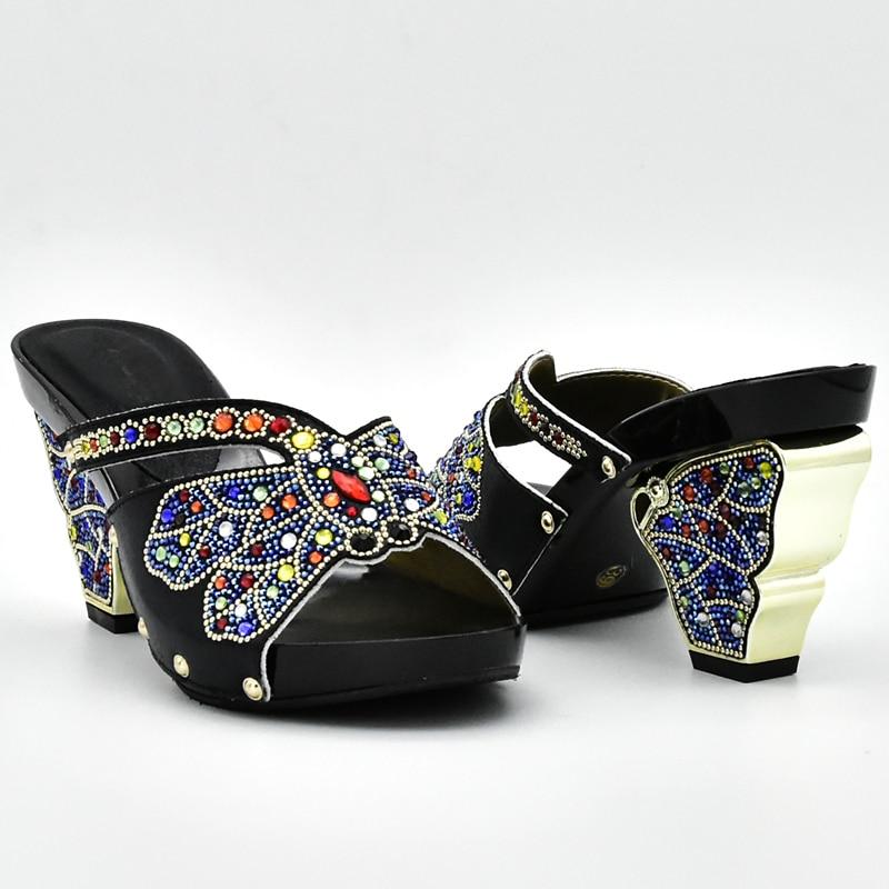 Zapato Color Negro De Nueva plata Bolsos púrpura Cristal Bolsa Negro Parte Italiano verde amarillo La Mujeres Las Para Fiesta Llegada Africano En Y wIxxpF5