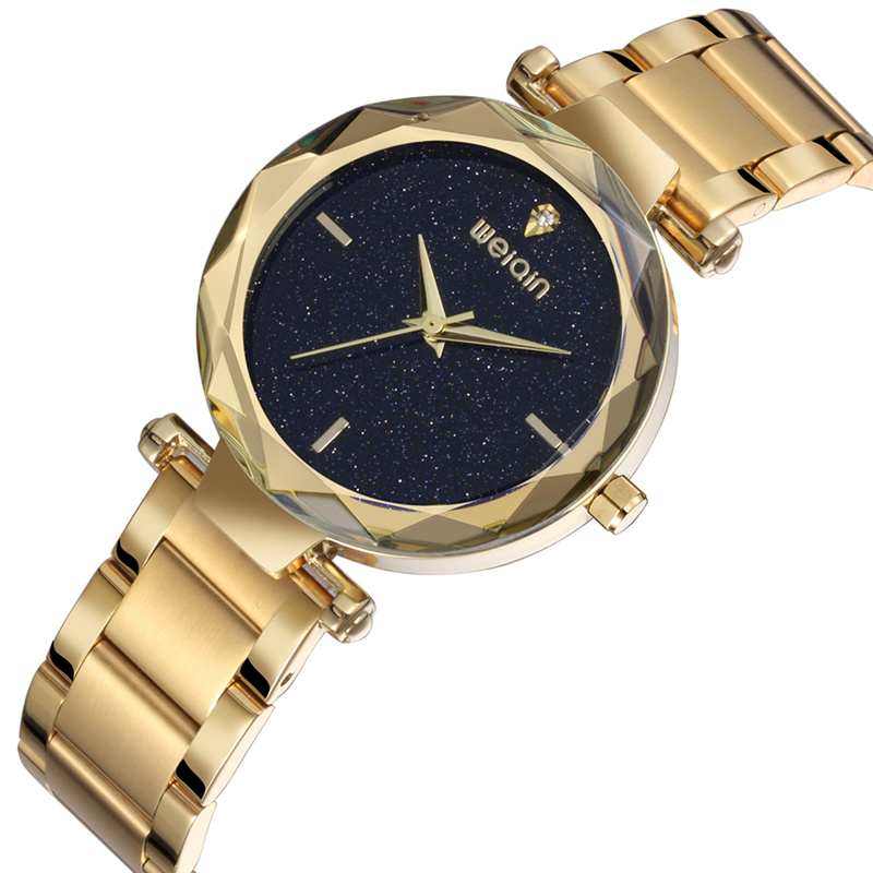 WEIQIN Rhinestone Watches Women Luxury Brand Gold Quartz Clock for Party Lady Waterproof Fashion Wristwatch Reloj Mujer weiqin 1096 fashion rhinestone scale quartz watch for female