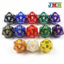 Top Qualität 10PCS TRPG Pearlized Wirkung D20 Würfel für Dungeons & Dragons 20 Seitige Spiel Daten Reiche Farben Desktop