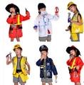 2016 Горячей продажи Краткое 1 Компл. Малыш Ребенок Хэллоуин Рождество Косплей Пожарный Костюм Косплей одежда