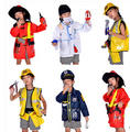 2016 Hot sale Brief 1Set Kid Child Halloween Christmas Cosplay Firefighter Fireman Costume Cosplay clothing