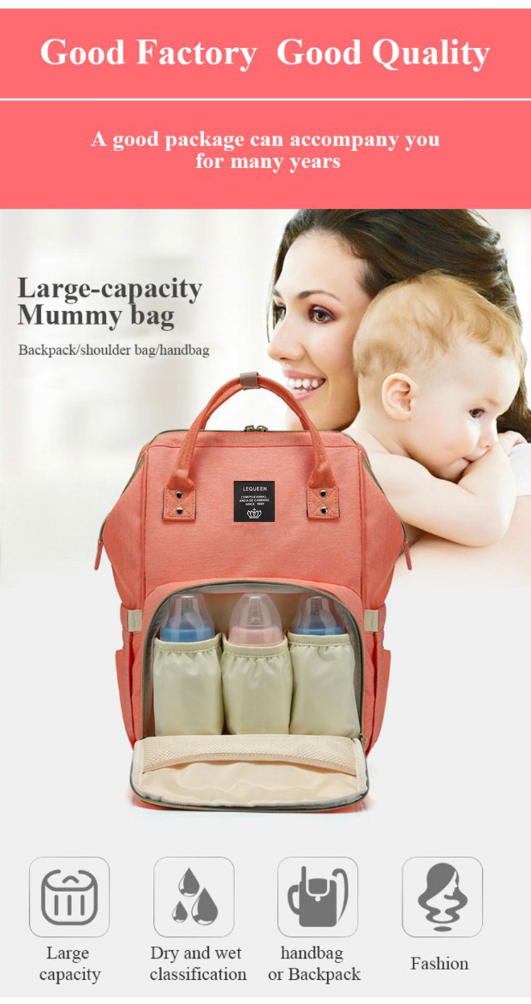 HTB1Jp4lewaH3KVjSZFjq6AFWpXaO Lequeen Fashion Mummy Maternity Nappy Bag Large Capacity Nappy Bag Travel Backpack Nursing Bag for Baby Care Women's Fashion Bag